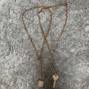 Jewelry - Gold Lock and Key Necklace